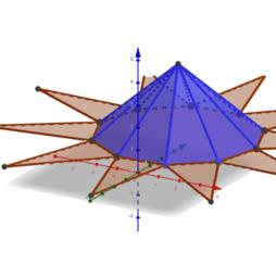 Pirámide decagonal 3D