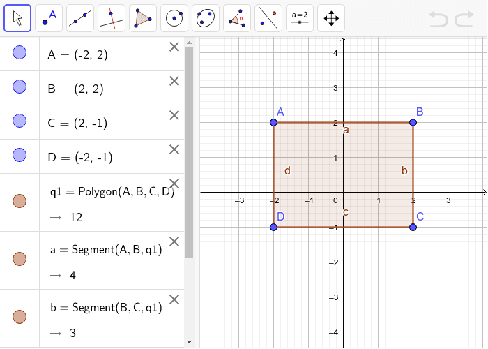 Making Triangles- Try making triangle(s) inside the square by connecting the vertices of the shape using the Segment tool of Geogebra. (Hint: you shouldn't have segments overlapping) Press Enter to start activity