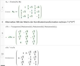Darstellende Matrix Phi bezgl. Basis B R^3