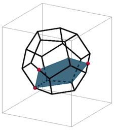Secciones en el dodecaedro