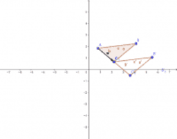 translating a triangle in a coordinate plane using a vector