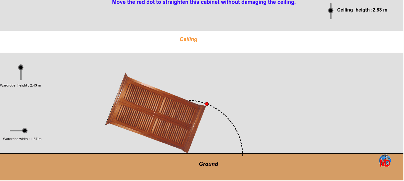 A good method of investigation to understand the usefulness of geometry and Pythagoras Press Enter to start activity