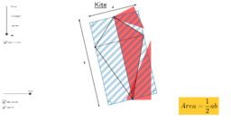 Area of triangle, parallelogram, trapezium and kite.
