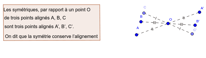 """Symétrique de trois points alignés Tapez """"Entrée"""" pour démarrer l'activité"""