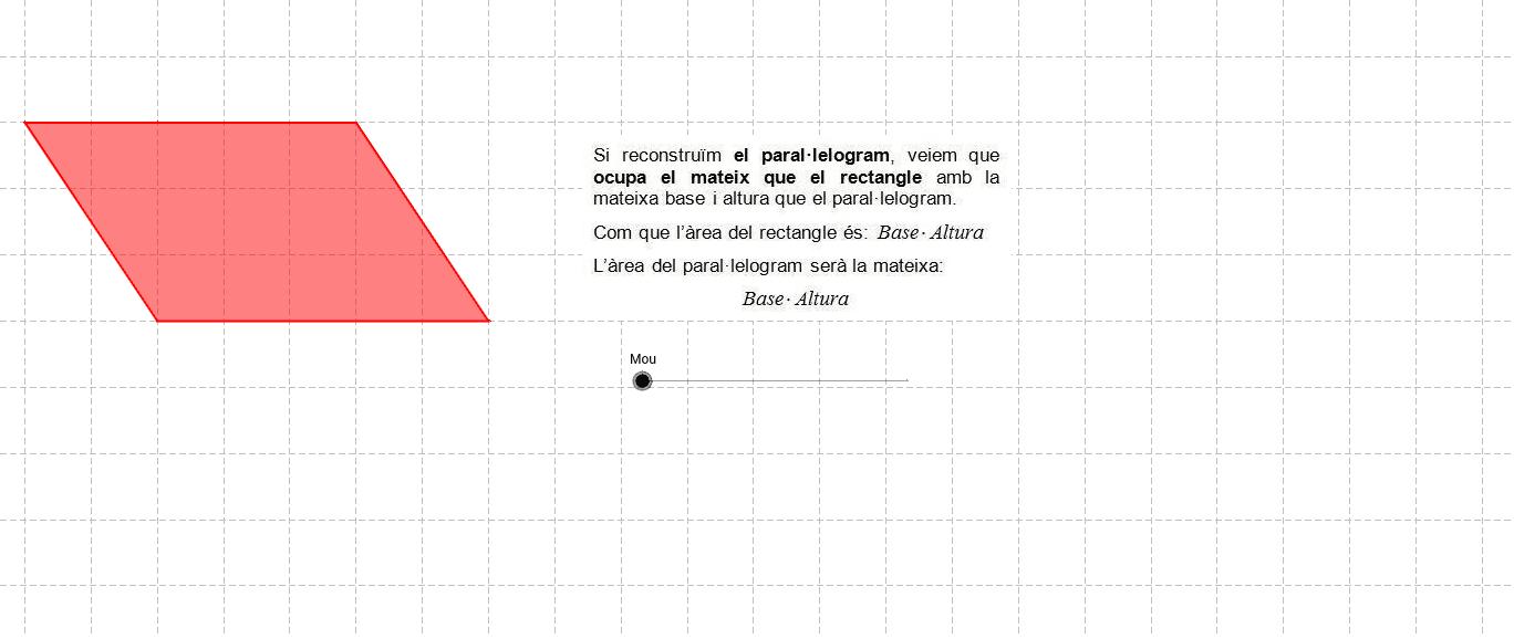 2. Àrea del paral·lelogram Press Enter to start activity