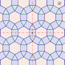 Muster einer Untergruppe von p6m