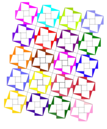 Pythagorean Theorem by Tessellation # 40 Tiling