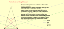 Punti notevoli nei triangoli isosceli