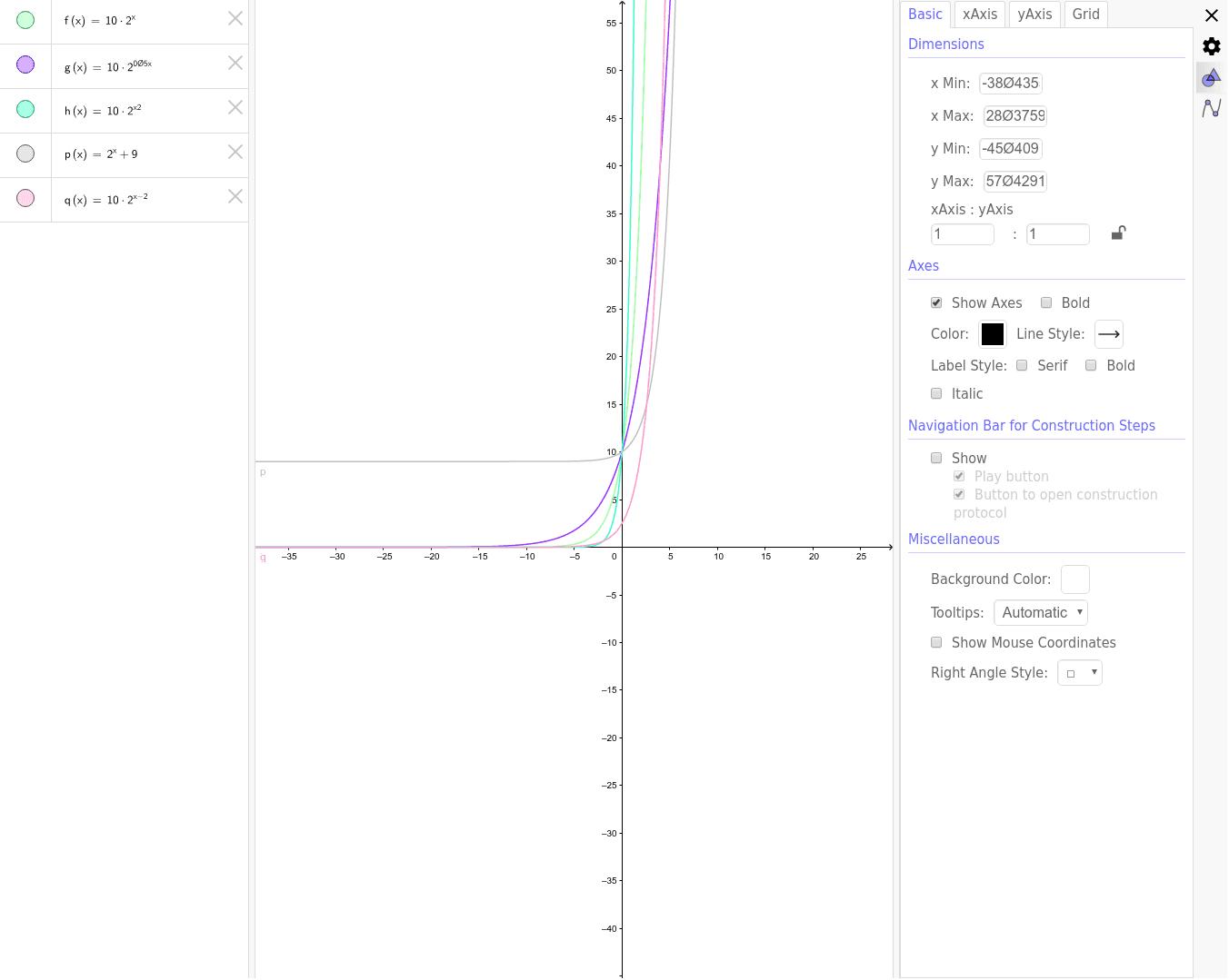 Funcions exponencials 4t d'ESO Premeu Enter per iniciar l'activitat
