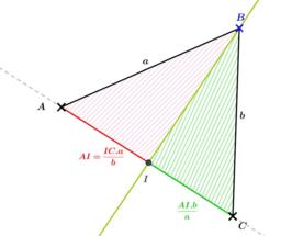 Relation autour d'une Bissectrice (approche par les aires )(partie 1)