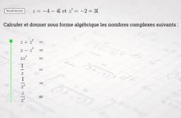 Calculs de base sur les nombres complexes