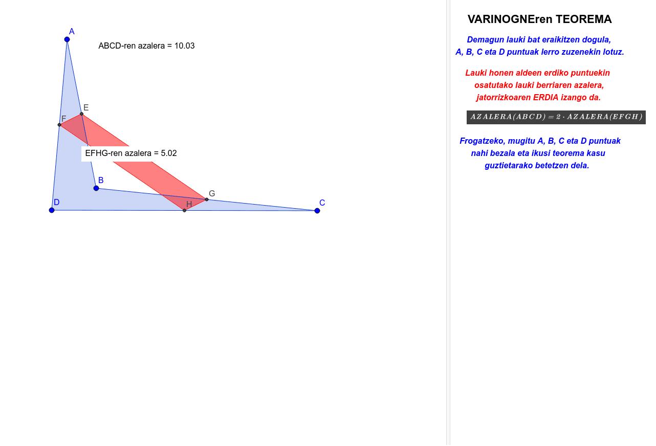 Varinogneren teorema Sakatu Enter jarduera hasteko