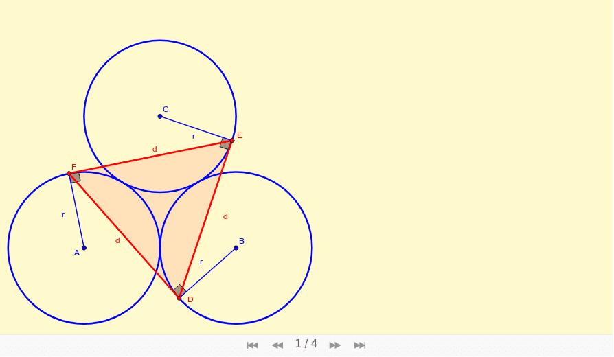 Triángulo de tangentes Press Enter to start activity