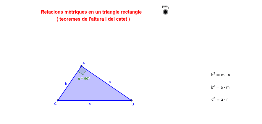 JMV - teoremes del catet i de l'altura Press Enter to start activity