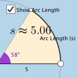 Arc Length and Area of a Sector (V1)