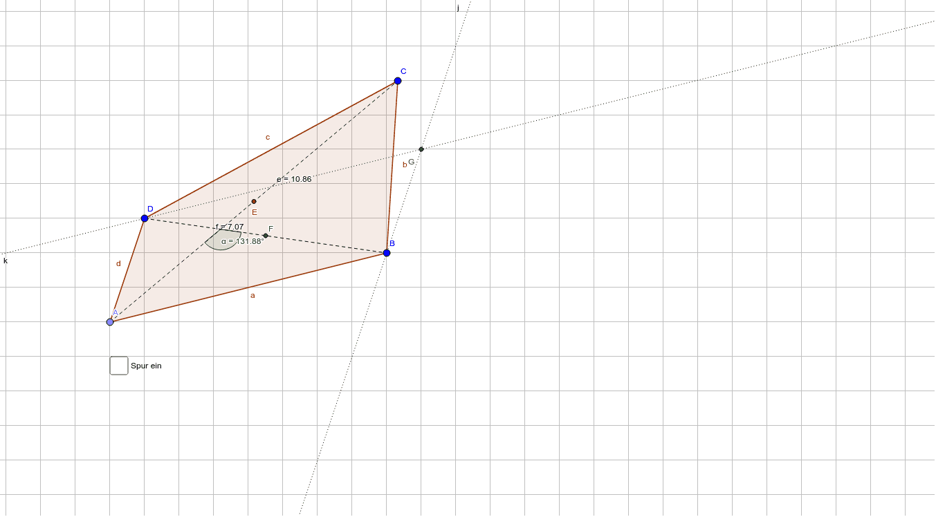 Vierecke, Diagonalen Drücke die Eingabetaste um die Aktivität zu starten