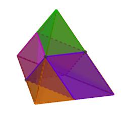 Opdeling af pyramide - Euklid XII-3