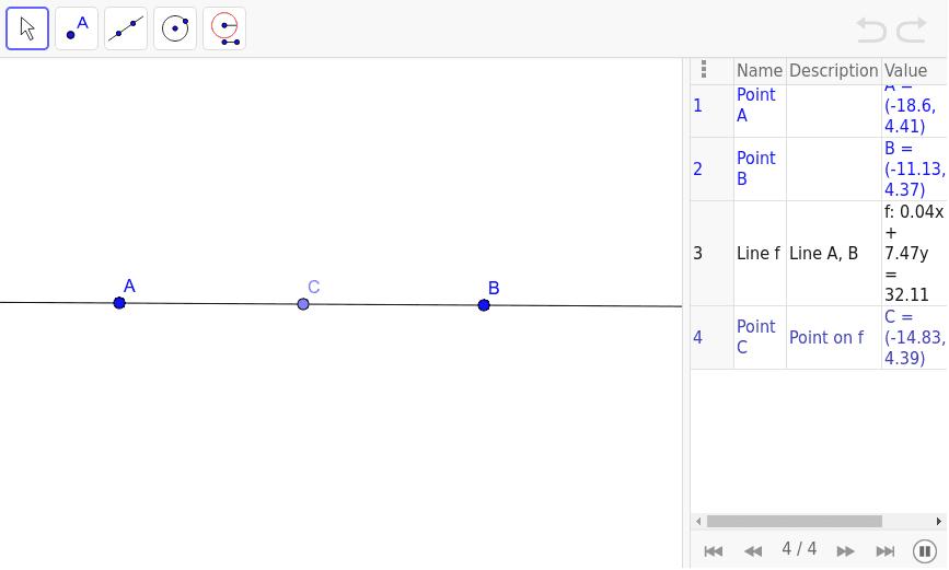 Perpendicular through a Point Press Enter to start activity
