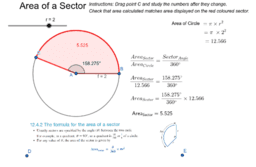Measurement - Area of a Sector of a Circle