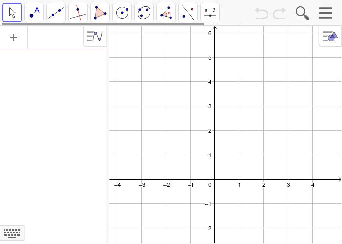 5.4 Teikn grafen til funksjonen f(x)=2x^2 og g(x)= x+3.  Marker skjæringspunkta mellom grafane. Vis koordinatane for skjæringspunkta.  Press Enter to start activity