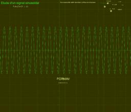 Etude d'un signal sinusoïdal