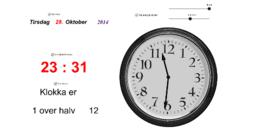 Klokke manuell digital analog uttale'in kopyası
