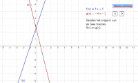 Bepaal het snijpunt van de twee rechte lijnen
