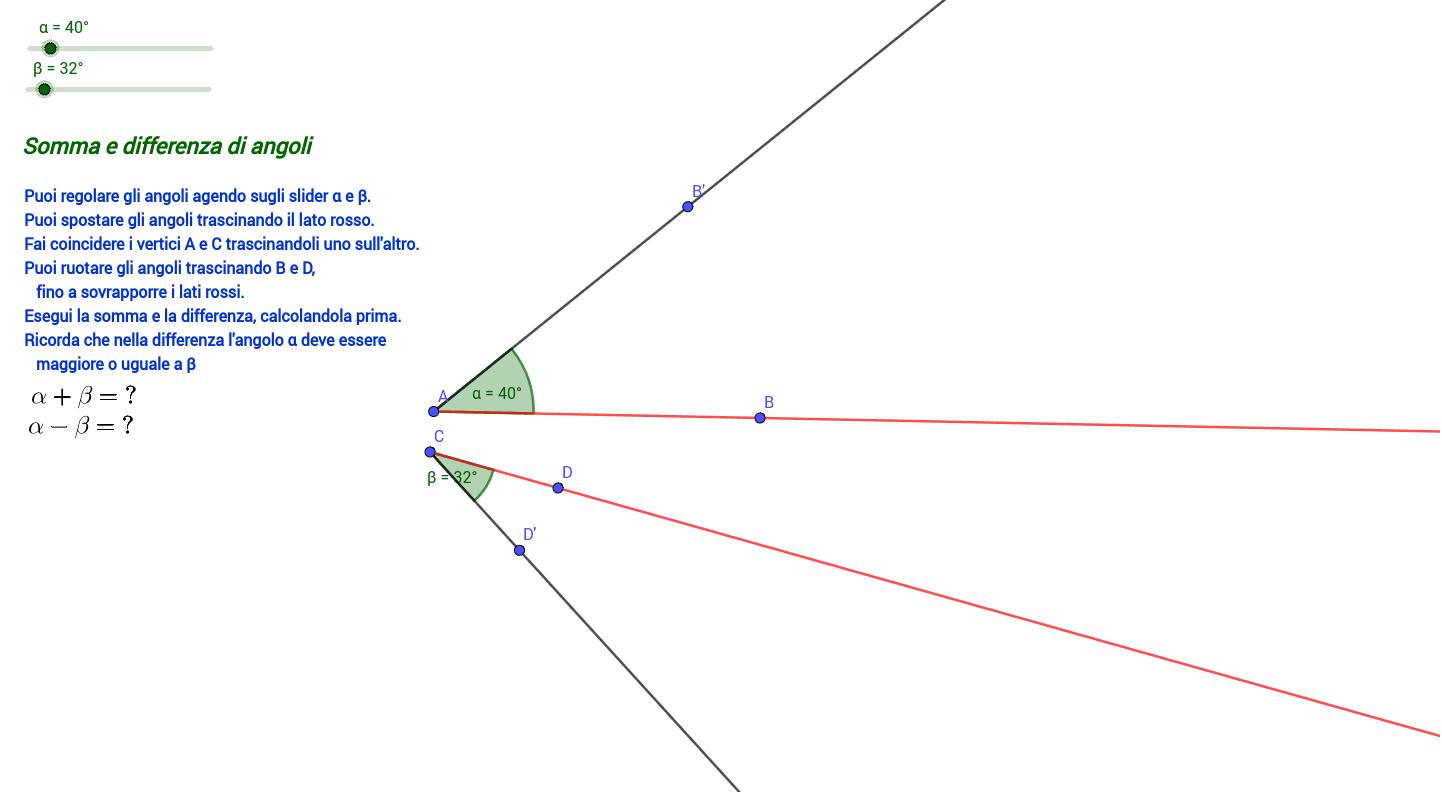 Somma e differenza di angoli