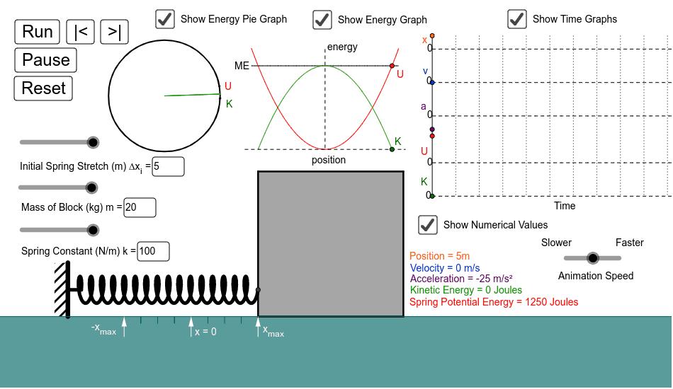 Simple Harmonic Motion Press Enter to start activity
