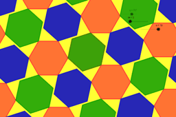 16 Construcción de mosaico con hexágono. Dinámico. Fanny