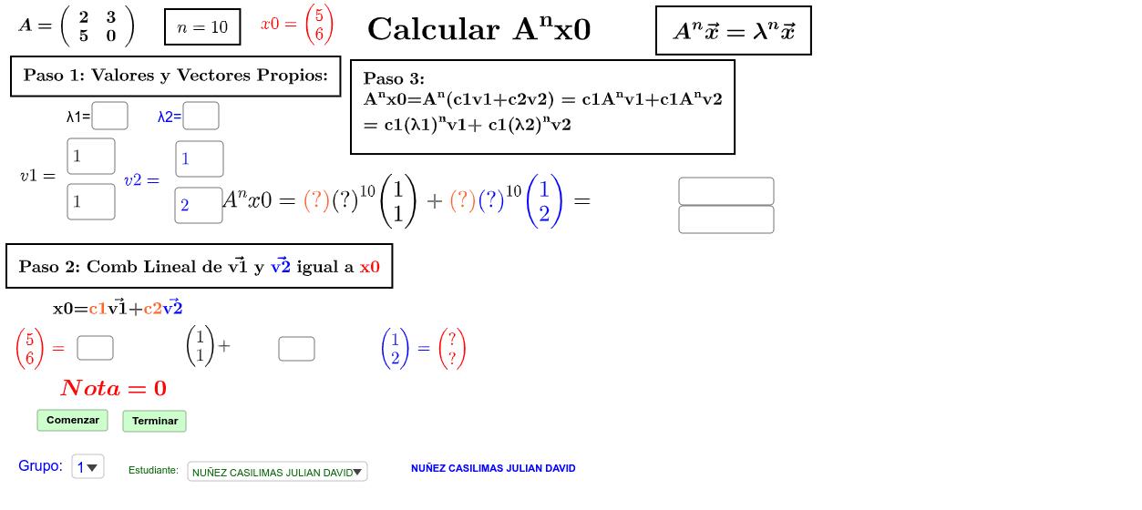Cálculo Rápido de Anx0 Presiona Intro para comenzar la actividad