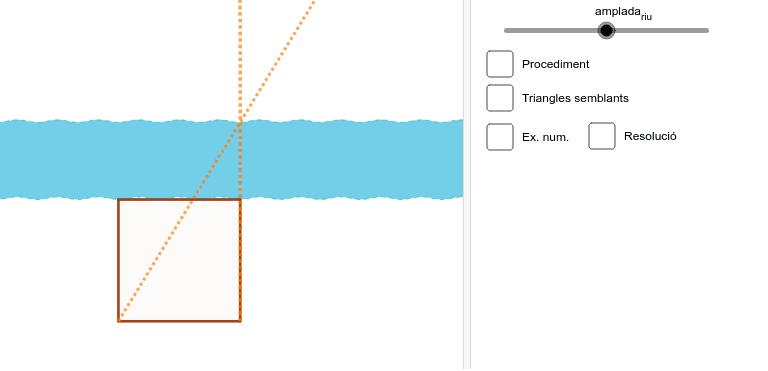 Com mesuraries l'amplada del riu? Press Enter to start activity