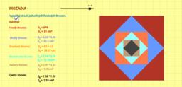 obsah štvorca - mozaika