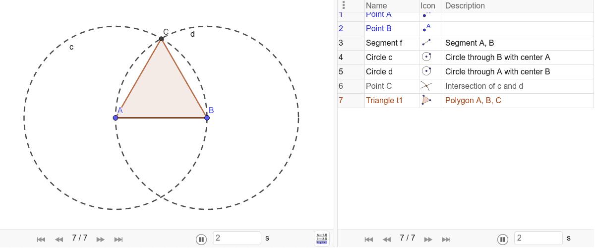 1) Triangolo equilatero Premi Invio per avviare l'attività