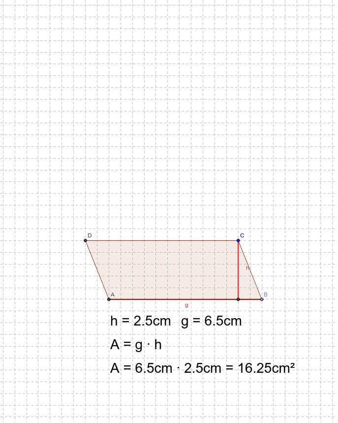 Verändere die Größe des Parallelogramms mit dem Mauszeiger. Drücke die Eingabetaste um die Aktivität zu starten