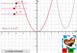 Dynamischer Aufgabengenerator Parabeln