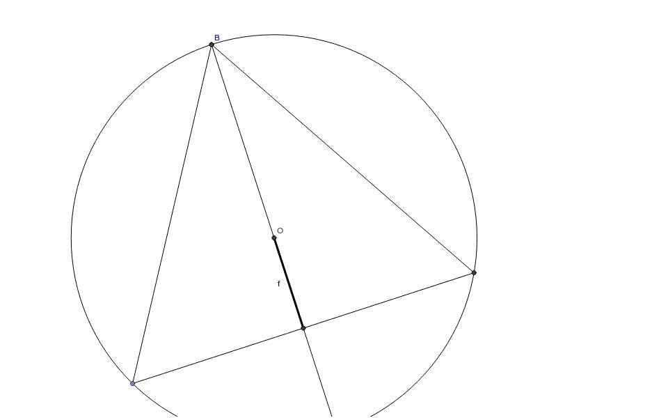 Pour quelle grandeur du segment f, le triangle isocèle inscrit a-t-il la plus grande aire ?