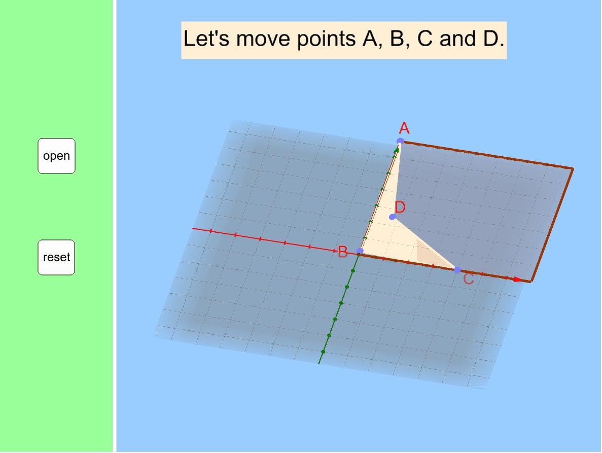 点を動かして、絵を書きかえてみよう。 ※右下のアイコンを押して画面を最適化してください。 ワークシートを始めるにはEnter キーを押してください。