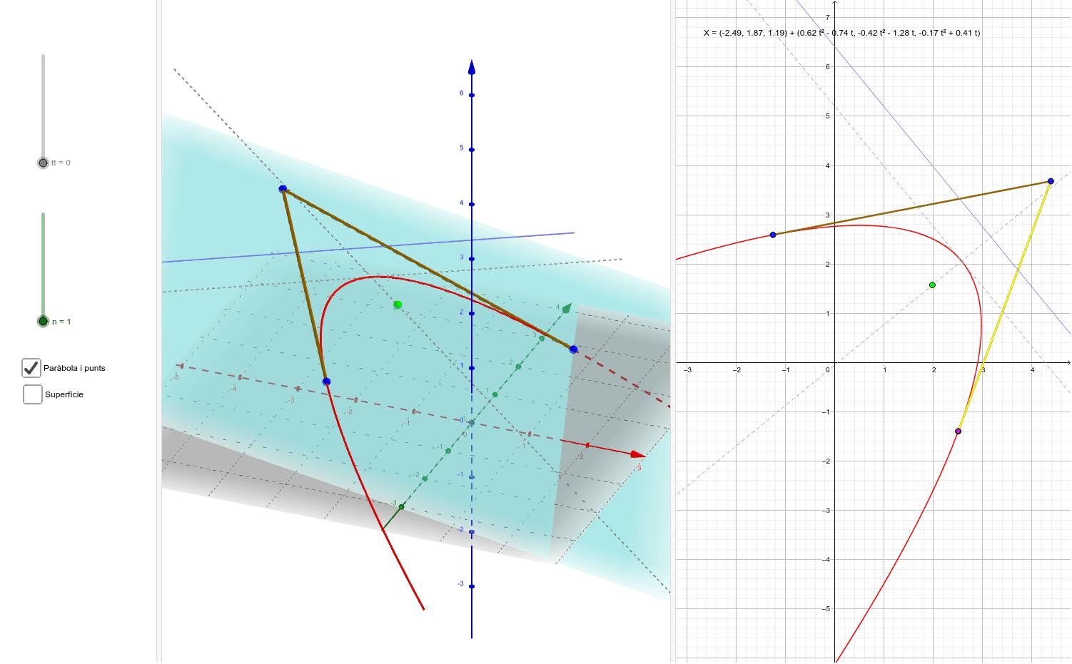 Modificant la posició dels punts a l'espai...