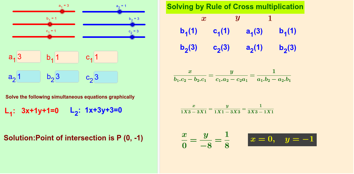 Solving by rule of cross multiplication Press Enter to start activity