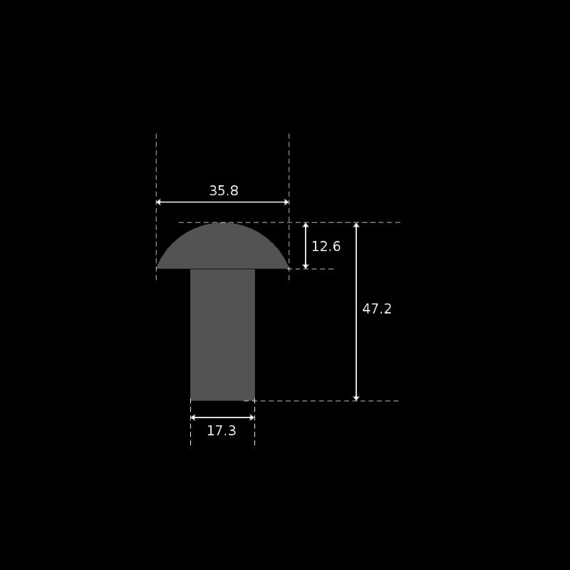 Kuva 3. Niitin mitat