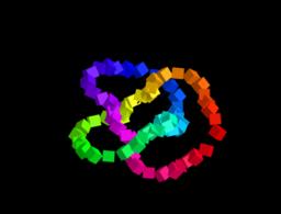 Dancing Cubes defined on torus knots