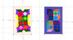 Фигуры Вазарели-3 c помощью центральной симметрии