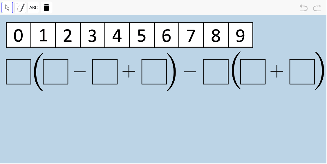 For this expression, What is the HIGHEST possible value you can create? What is the LOWEST?  Press Enter to start activity