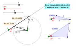 Triangles amb dos costats i un angle no comprès coneguts (A-C-C)