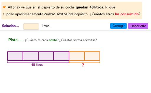 Calcula el total conociendo una parte... problemas con fracciones ...