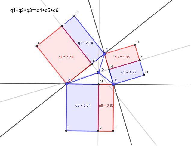 上の定理から自然にこれが言える。ここから元のピタゴラスの定理を言うためには、どうしたら良いのだろうか?