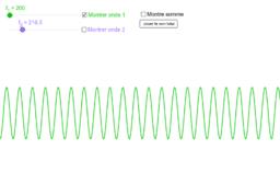 Battements entre deux ondes