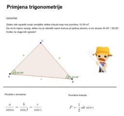 Primjena trigonometrije - izradili: studenti