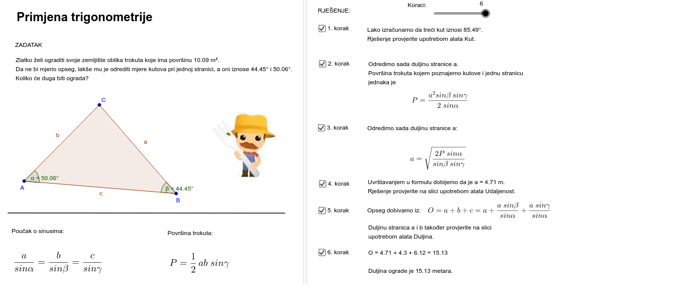 Primjena trigonometrije